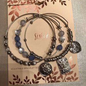 Jewelry - Silver Sister 3 pc Bracelet Set